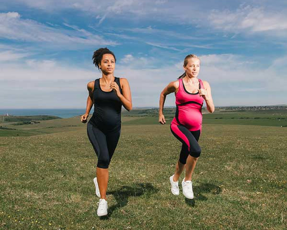 Women participating in exercise during pregnancy