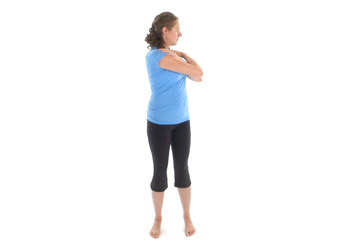 Physiotherapy exercise thoracic trunk rotation left