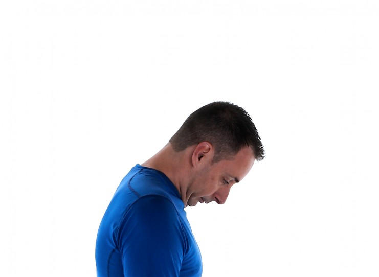 Physiotherapy neck exercise chin down