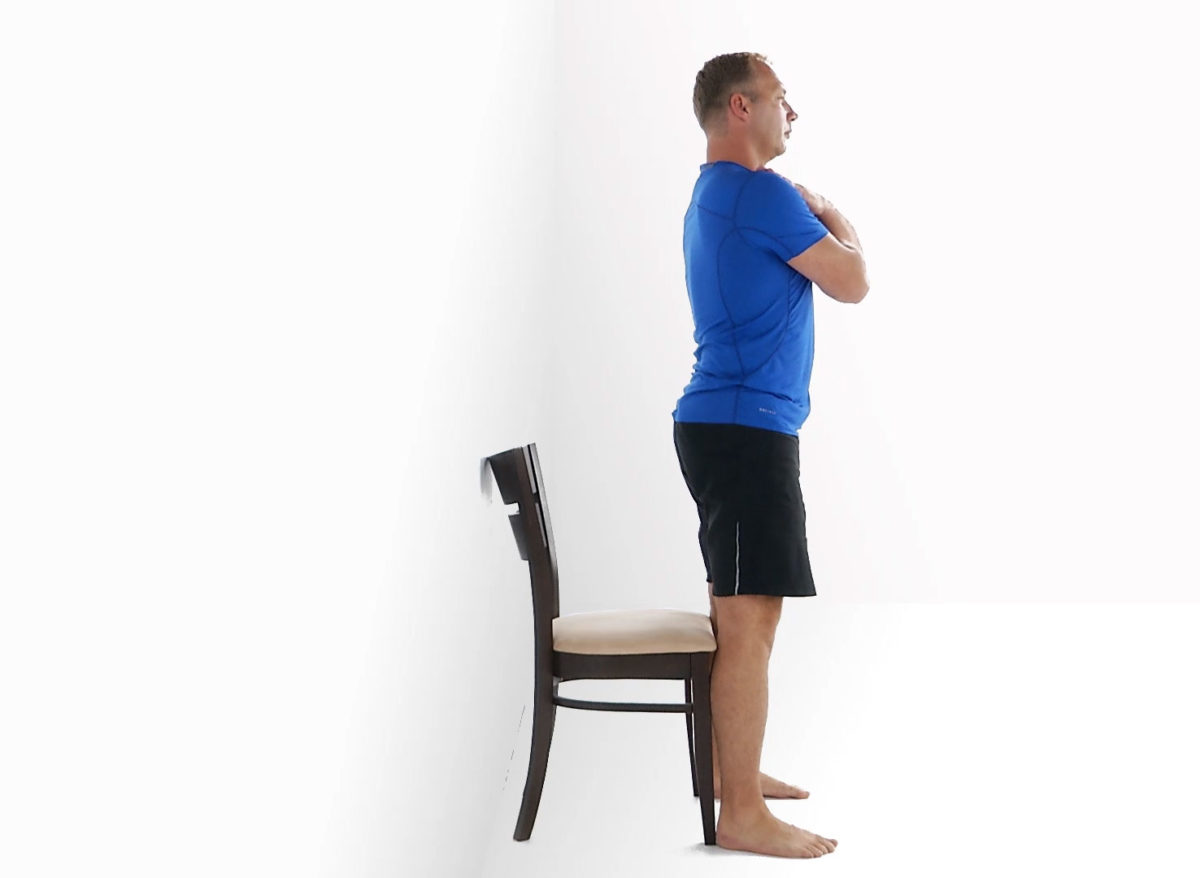 Physiotherapy exercise standing up from your chair